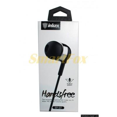 Наушники вакуумные с микрофоном INKAX EP-07 металл