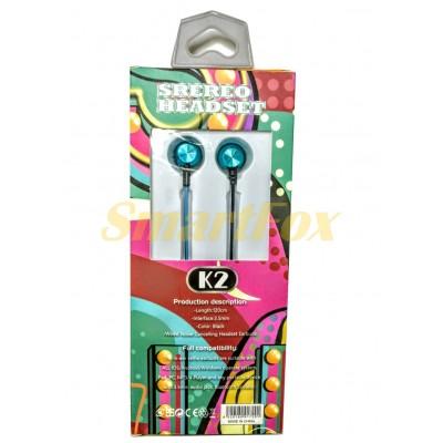 Наушники вакуумные с микрофоном K2