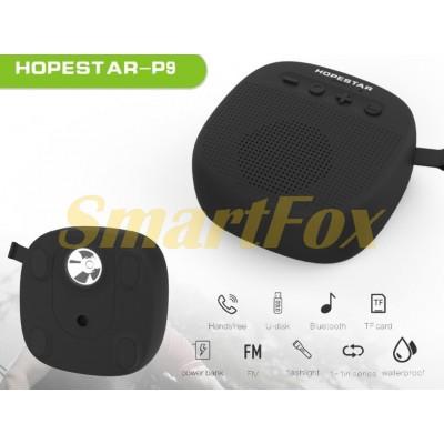 Портативная колонка Bluetooth HOPESTAR P9+ (с велосипедным креплением и фонариком)