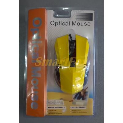Мышь проводная полноразмерная MA-78 Желтый