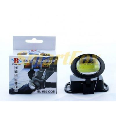 Фонарь налобный BAILONG BL-539-COB светодиодный