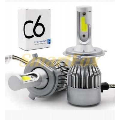 Автомобильные лампы LED H7 C6-18W (2шт.)
