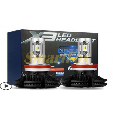 Автомобильные лампы LED H7 X3