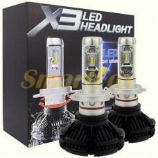 Автомобильные лампы LED H4 X3