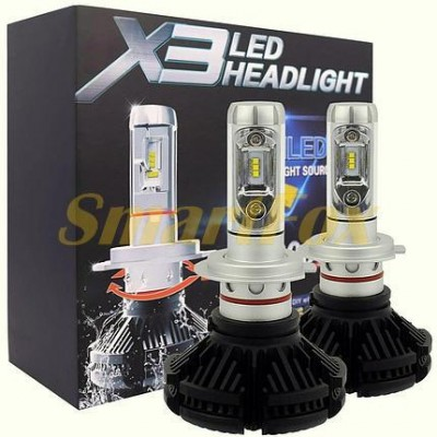 Автомобильные лампы LED H4 X3 (2шт.)