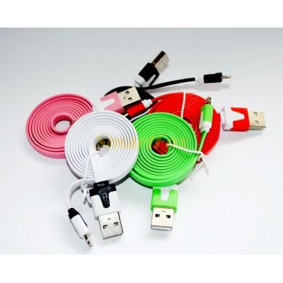 Кабель USB/IPHONE 5 плоский i-820 (1 м)