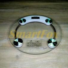 Весы цифровые напольные круглые стеклянные 2003A (до 180кг, толщина 5мм)