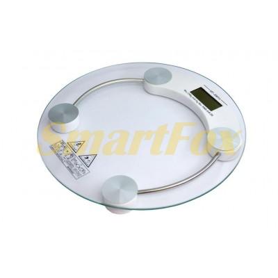 Весы цифровые напольные весы круглые стеклянные 2003A MX-451A (до 180кг, толщина 6мм)