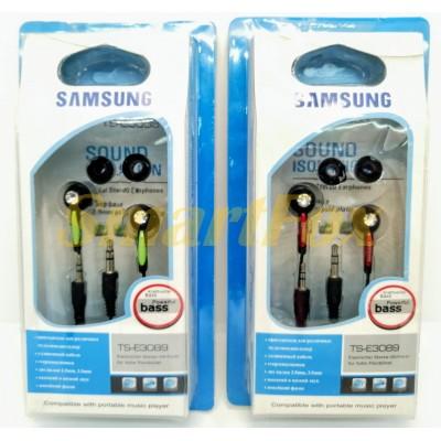 Наушники вакуумные с микрофоном TS-3089-AT-3089E (в блистере)