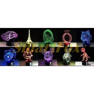 Сменные картинки для Ночник 3D 264-265-266 Микс БЕЗ ВЫБОРА КАРТИНКИ (без возврата, без обмена)