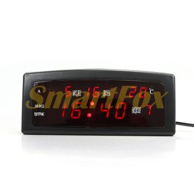 Часы настольные 909-1 с красной подсветкой