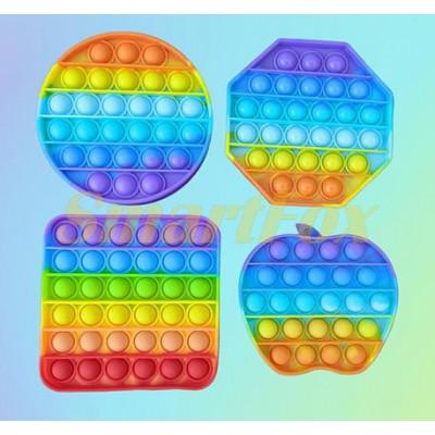 Игрушка-антистресс Pop it радужный пупрка(без выбора форм и цвета)
