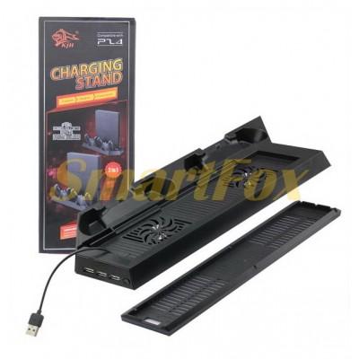 Подставка для приставки с охлаждением и зарядка для джостиков PS4