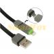 Кабель USB/IPHONE 5 + micro 2в1 в коробке (1 м)