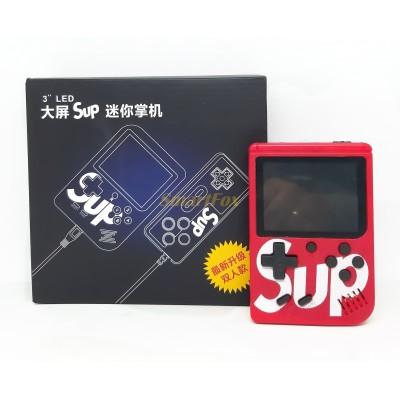 Портативная игровая приставка SUP 400в1 +джойстик (играть вдвоем) КРАСНЫЙ