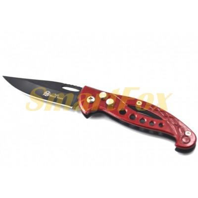 Нож складной B12-8 красный (16см)