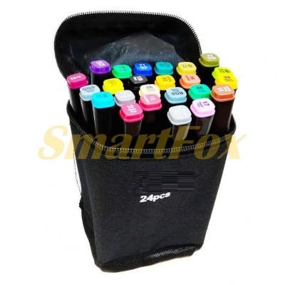 Маркер для скетчинга SKETCH MARKER в тканевом чехле набор 24 цвета (цена за 1шт, продажа только упак