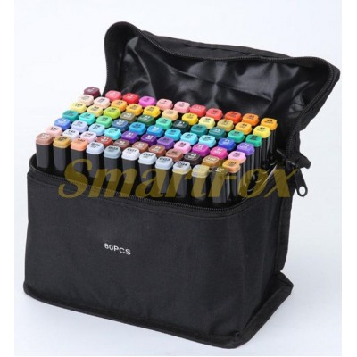 Маркер для скетчинга SKETCH MARKER в тканевом чехле набор 80 цветов (цена за 1шт, продажа только упа