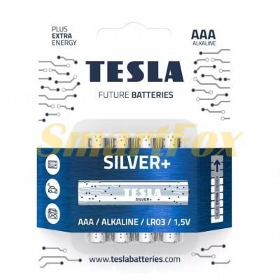 Батарейка Tesla SILVER LR03 (цена за 1шт, упаковка 4шт)