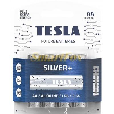Батарейка Tesla SILVER LR06 (цена за 1шт, упаковка 4шт)