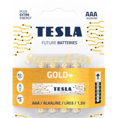 Батарейка Tesla GOLD LR03 (цена за 1шт, продажа упаковкой 4шт)