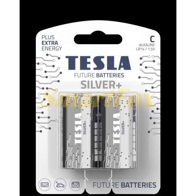 Батарейка Tesla Silver LR20 C (цена за 1шт, продажа упаковкой 2шт)