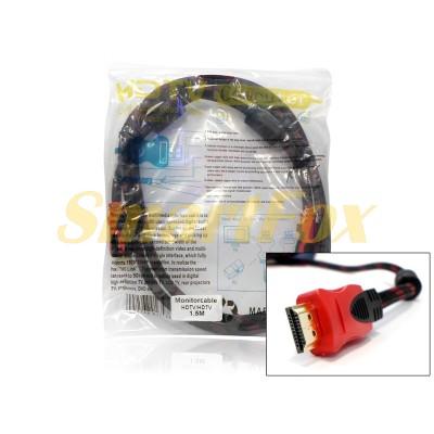 Кабель видео HDMI/HDMI в тканевой оплетке (1,5 м)