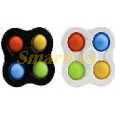 Игрушка-антистресс Pop it Simple Dimple Cпиннер четверной (6,5х6,5см)