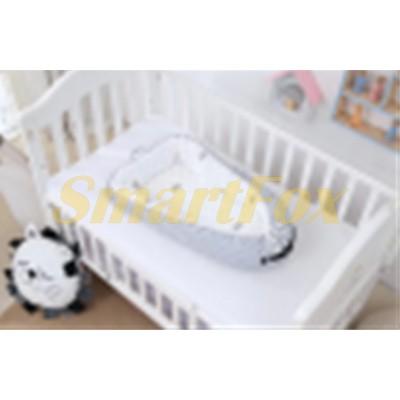 Кокон для новорожденных с сеткой SJ-0010 (Серый)