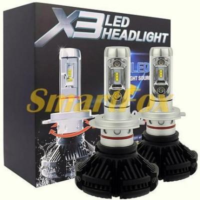 Автомобильные лампы LED X3-H1  (2шт.)