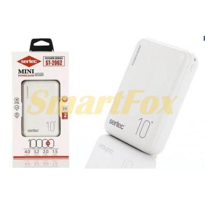 УМБ (Power Bank) SERTEC ST-2062 10000mAh WHITE