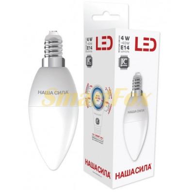 Светодиодная лампа Наша Сила 4W E14 4000k свеча