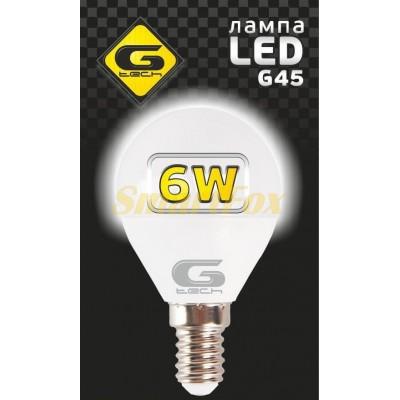 Светодиодная лампа G-TESH 6W E14 4000k шар