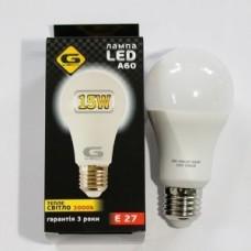 Светодиодная лампа G-TESH 15W E27 3000k шар