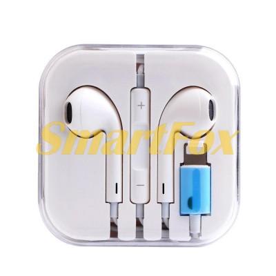 Наушники вакуумные с микрофоном IPHONE 7/8/10  Bluetooth ПРОВОДНЫЕ (коробка)