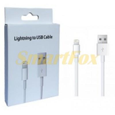 Кабель USB/Lightning WHITE (77600)