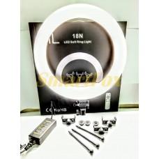 Лампа LED для селфи кольцевая светодиодная 45 см HQ-18 45см/55W/чехол