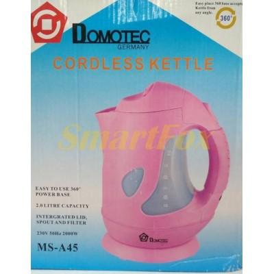 Электрочайник пластиковый Domotec MS-A45 2,0л 2000Вт