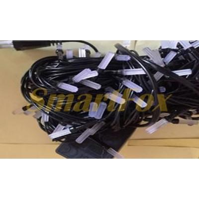 Гирлянда LED100WW-5 черный провод и гексагональная лампа (теплый белый) (без возврата, без обмена)