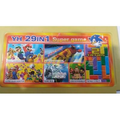 Картридж 8-bit Сборник игр денди YH 29in1