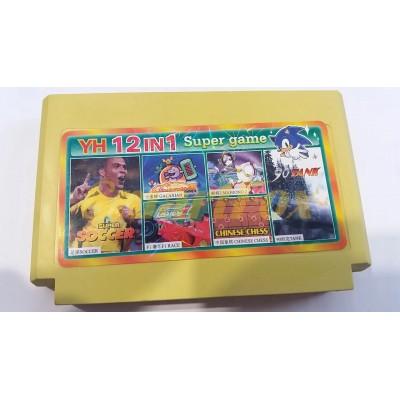 Картридж 8-bit Сборник игр денди YH 12in1