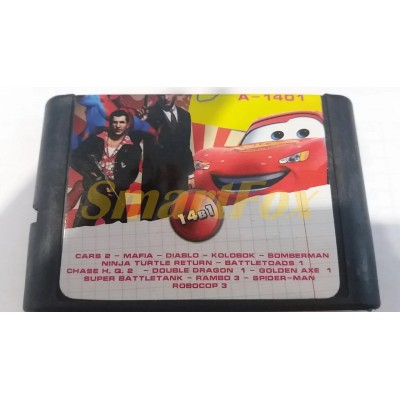 Картридж 16-bit Сборник игр 14 в 1 А-1401