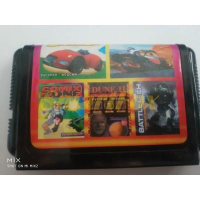 Картридж 16-bit Сборник игр на Sega 5 в 1 SB-5101