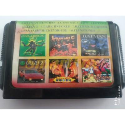 Картридж 16-bit Сборник игр 10 в 1 SB-10001