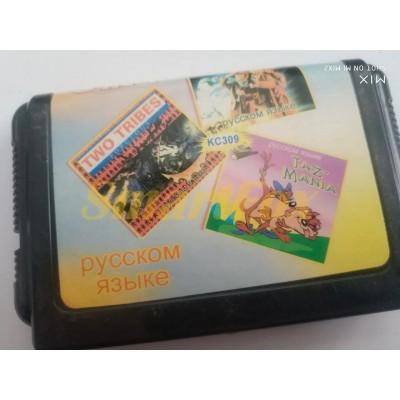 Картридж 16-bit Сборник игр 3 в1 KC309