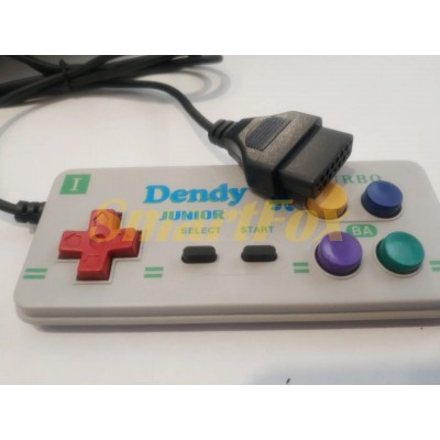 Игровой манипулятор (джойстик) Dendy 8-bit прямоугольный широкое гнездо
