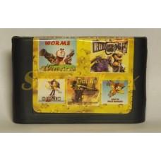 Картридж 16-bit Сборник игр Sega 5 IN 1 AD-5104