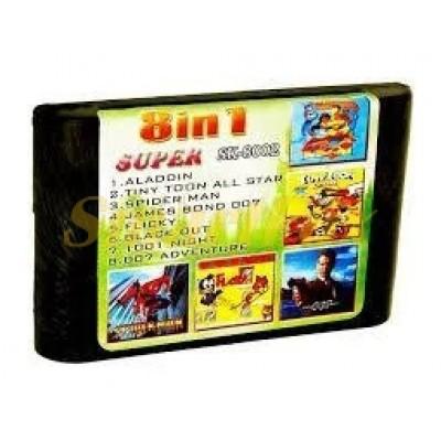 Картридж 16-bit Сборник игр SK-8002