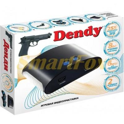 Игровая приставка 8-bit Dendy Х 255 игр+ пистолет-автомат