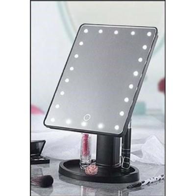 Зеркало для макияжа с подсветкой USB 624-3 BLACK
